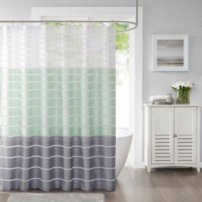 Demi Standard Shower Curtain In Green
