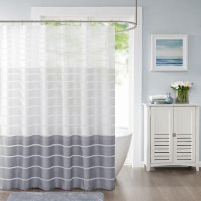 Demi Standard Shower Curtain In Silver