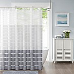 Demi Standard Shower Curtain in Silver