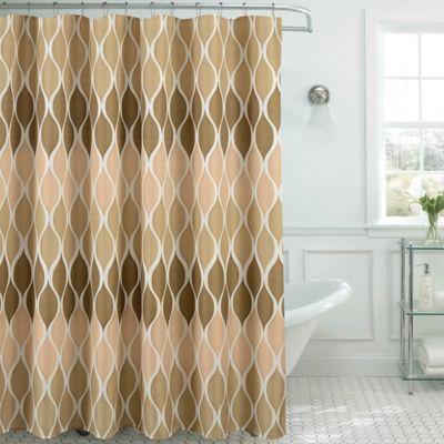 Clarisse Faux Linen Shower Curtain In