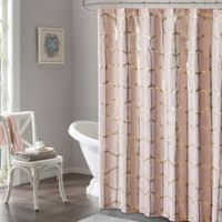 Intelligent Design Raina Metallic Shower Curtain in Pink
