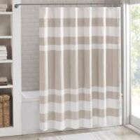 Madison Park 72-Inch x 84-Inch Spa Waffle Shower Curtain in Taupe