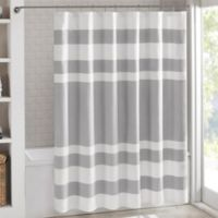 Madison Park 72-Inch x 84-Inch Spa Waffle Shower Curtain in Grey