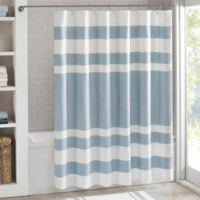 Madison Park 72-Inch x 96-Inch Spa Waffle Shower Curtain in Blue