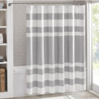 Madison Park 72-Inch x 96-Inch Spa Waffle Shower Curtain in Grey