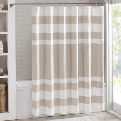 4f02aaf86eef3 Madison Park 108-Inch x 72-Inch Spa Waffle Shower Curtain in Taupe