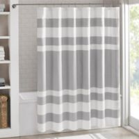 Madison Park 108-Inch x 72-Inch Spa Waffle Shower Curtain in Grey