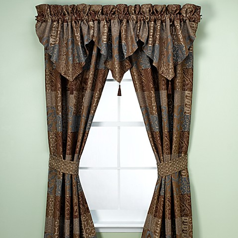 Croscill 174 Galleria Window Curtain Panel Pair And Valance
