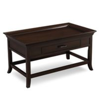 Leick Home Tray Edge Coffee Table in Chocolate Cherry