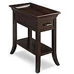 Leick Furniture Tray Edge Chairside Table in Chocolate Cherry