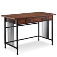 Leick Home Ironcraft Writing Desk in Oak