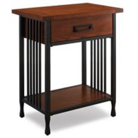 Leick Home Ironcraft End Table in Oak