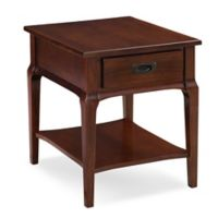 Leick Home Stratus Drawer End Table with Chocolate Cherry Finish