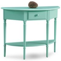 Leick Home Coastal Demilune Hall Stand in Kiwi Green