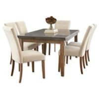 Steve Silver Co. Debby 7-Piece Dining Set with Beige Chairs