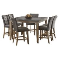 Steve Silver Co. Debby 7-Piece Dining Set with Grey Chairs