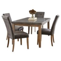 Steve Silver Co. Debby 5-Piece Dining Set with Grey Chairs