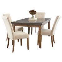 Steve Silver Co. Debby 5-Piece Dining Set with Beige Chairs