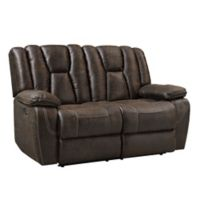 Standard Furniture Mfg. Rainier Manual Motion Loveseat in Brown
