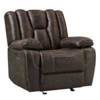 Standard Furniture Mfg. Rainier Manual Motion Recliner/Glider in Brown