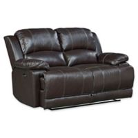 Standard Furniture Mfg. Audubon Power Motion Leather Loveseat in Coffee