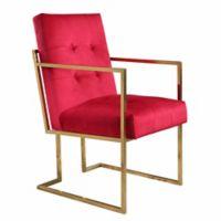 Abbyson Living Aide Velvet Armchair in Rose
