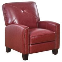 Abbyson Living London Pushback Leather Recliner in Red