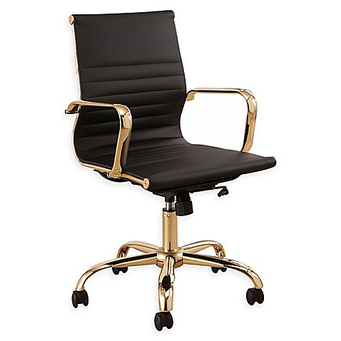 Abbyson Living Daniel Gold Frame Office Chair