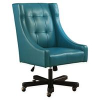 Abbyson Living Brooklyn Office Chair in Blue Bonded Leather
