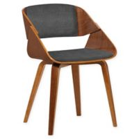 Armen Living Ivy Wood Upholstered Dining Chair in Walnut/Charcoal