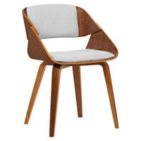 Armen Living Ivy Wood Upholstered Dining Chair in Walnut/Grey