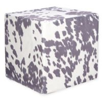 Grouchy Goose Cow Ottoman in Grey