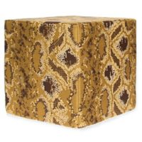 Grouchy Goose Reptile Ottoman in Gold