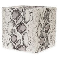 Grouchy Goose Reptile Ottoman in Light Grey