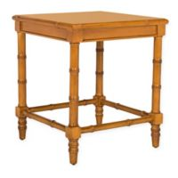 Safavieh Liviah Coastal Bamboo Accent Table in Brown