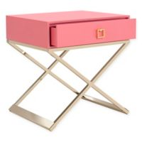 Safavieh Zarina Modern Cross-Leg End Table in Pink