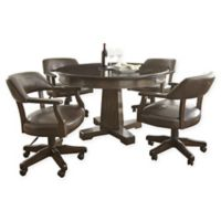 Steve Silver Rudy 5-Piece Dining/Game Set in Cherry