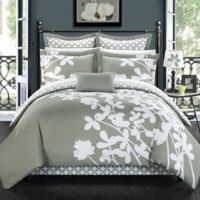 Chic Home Sire 7-Piece Reversible King Comforter Set in Grey