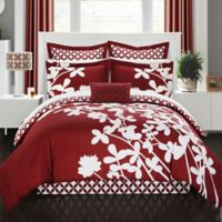 Chic Home Sire 7-Piece Reversible Queen Comforter Set in Red