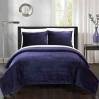 Chic Home Budapest Twin Blanket Set in Navy