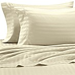 Wamsutta® 500 Damask California King Sheet Set in Ivory