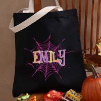 Spider Webs Halloween Treat Tote Bag