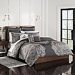 Shalini Full/Queen Duvet Set in Charcoal