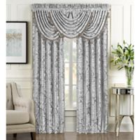 J. Queen New York™ Bel Air Rod Pocket Window Curtain Panel Pair in Silver
