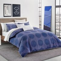 Lacoste Risoul Reversible King Comforter Set in Blue
