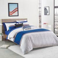 Lacoste Praloup Reversible Full/Queen Comforter Set in Blue