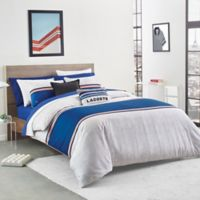Lacoste Praloup Reversible Full/Queen Comforter Set in Blue