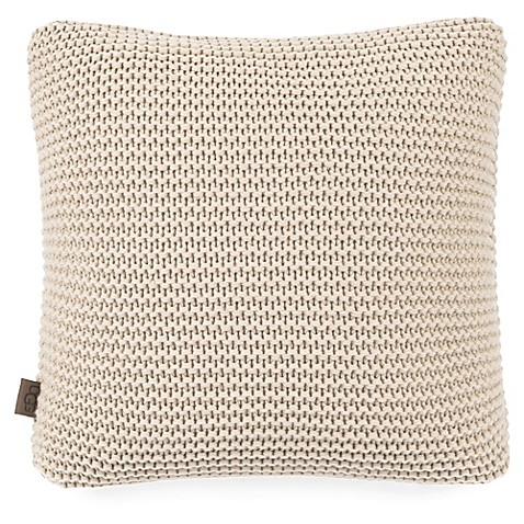 image of UGG® Pebble Knit Throw Pillow in Cream