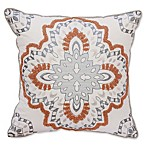Bridge Street Paisley Medallion Square Throw Pillow