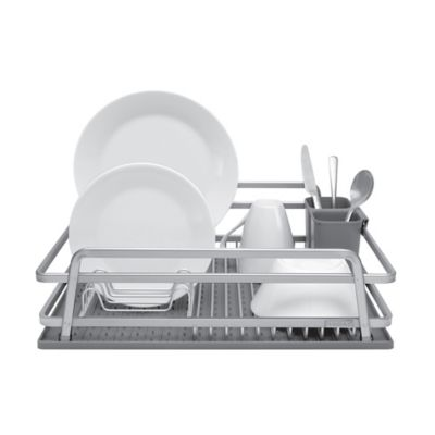Jascor Housewares Tada Aluminum Dish Rack with DrySmart Mat  sc 1 st  Bed Bath \u0026 Beyond : stacked plate rack - pezcame.com